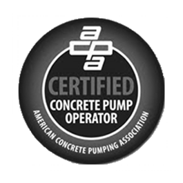 Certified Concrete Pump Operator gray